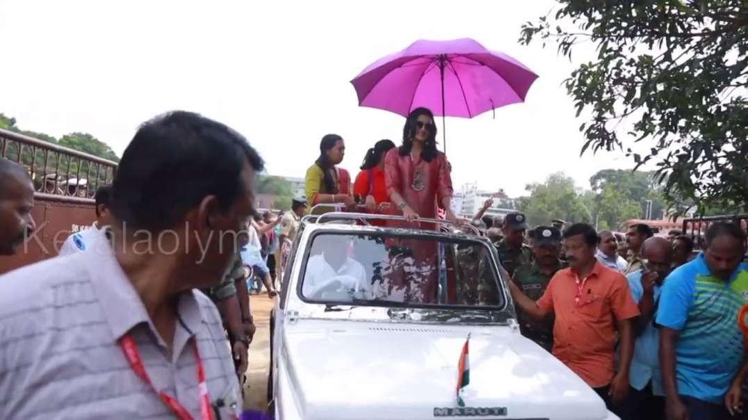 PV Sindhu in Kerala Roadshow