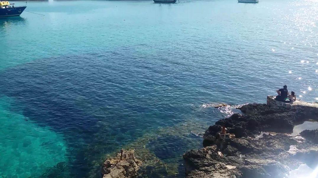 The beautiful Blue Lagoon in Malta