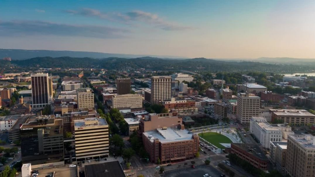 Aerial View Time Lapse busy City