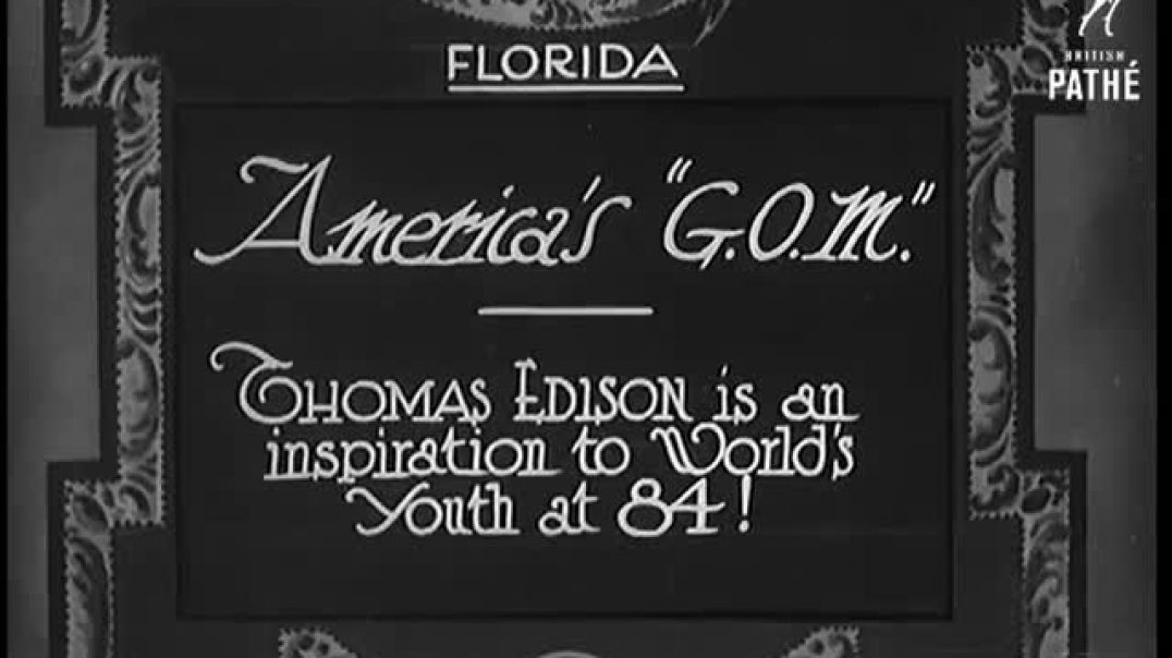 Interview with Thomas Edison on his birthday in 1931_480p