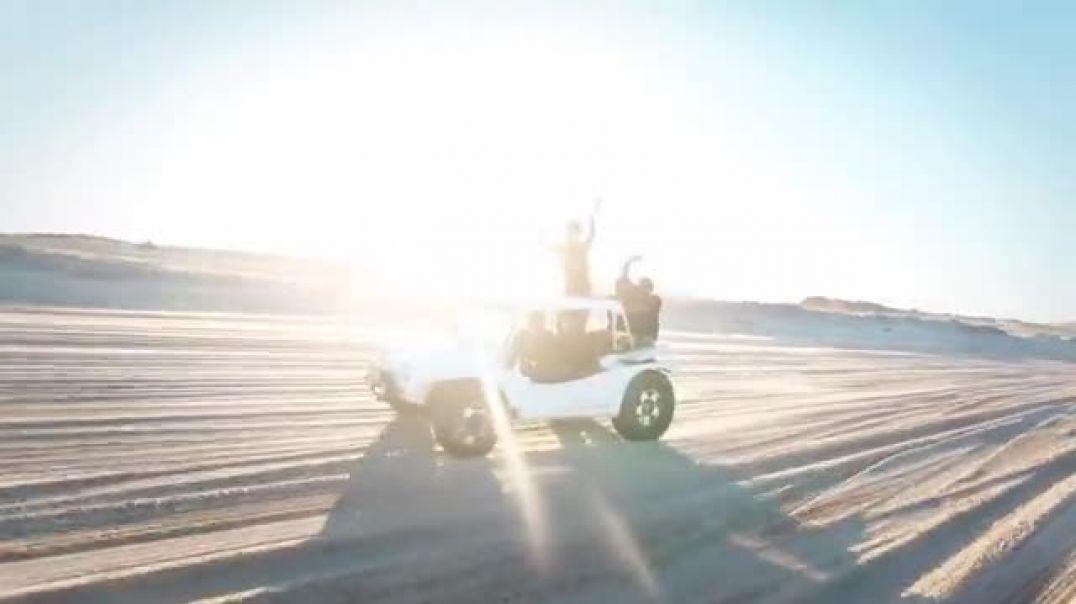 White Jeep Swooshing
